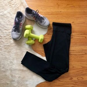 Champion Black Leggings with Mesh Details